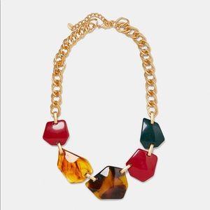 ZARA Multicolored Resin Bead Necklace